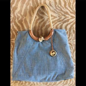 Michael Kors Isla Chambray Rope Large Handbag Tote